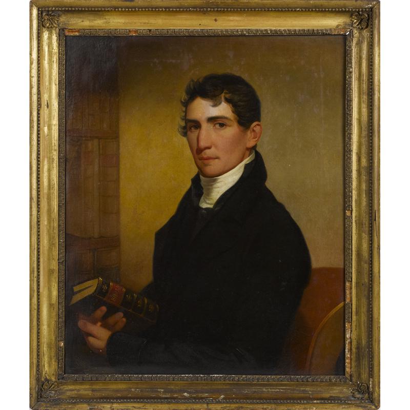 Jacob Eicholtz (American 1776-1842), oil on canvas portrait of the Reverend James Ross Reily