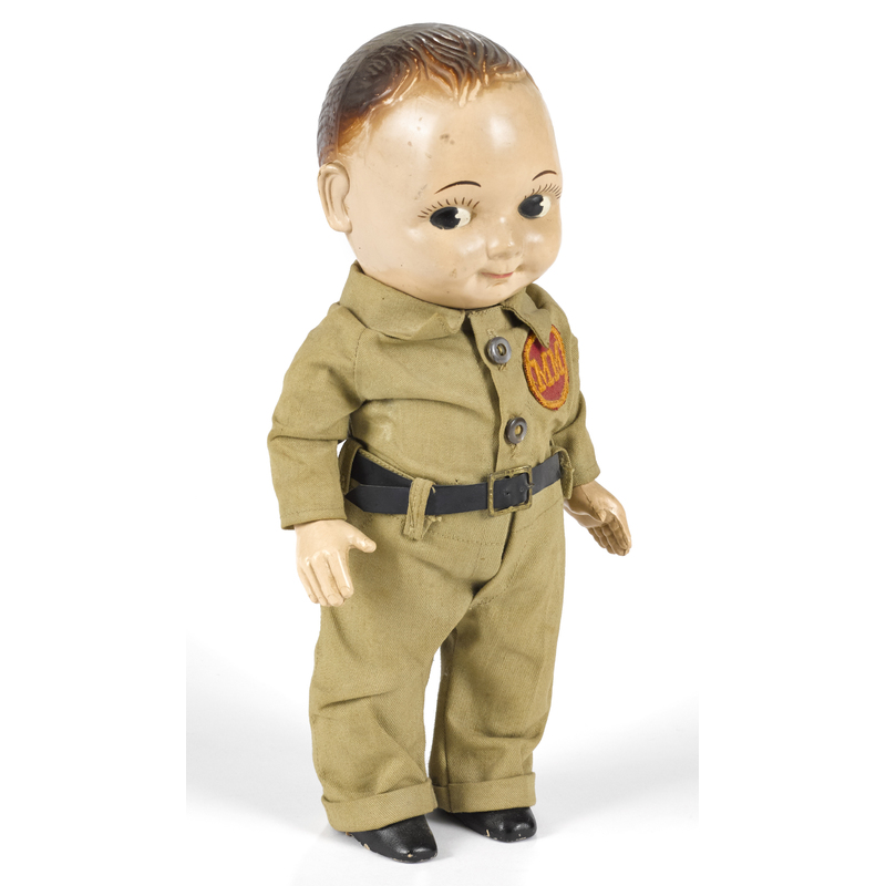Buddy Lee composition doll with a Minneapolis Moli