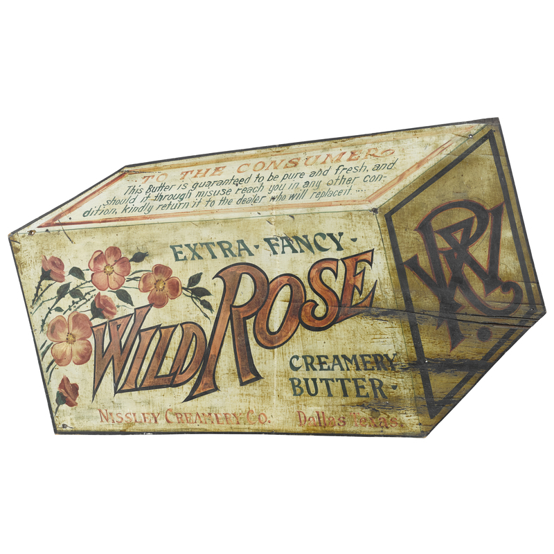 Nissley Creamery Co. Wild Rose Butter painted plyw