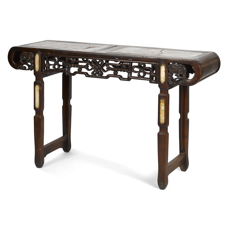 Chinese hardwood altar table, late 19th c., with m