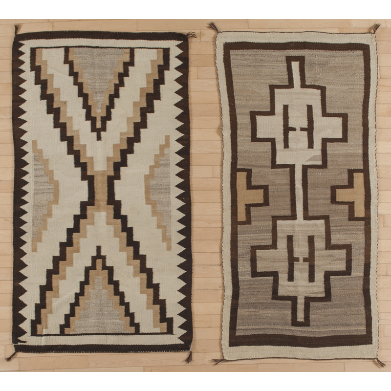 Two Navajo weavings, early 20th c., 68