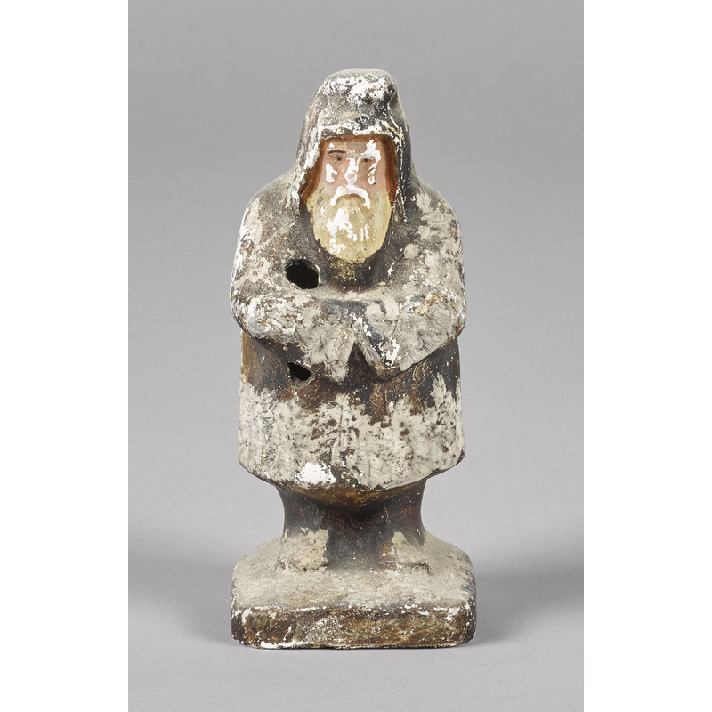 Pennsylvania chalkware Santa Claus, 19th c., 7 1/2