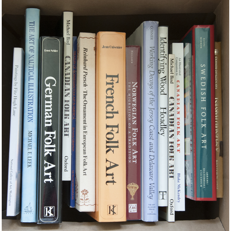 Group of antique reference books pertaining to mar