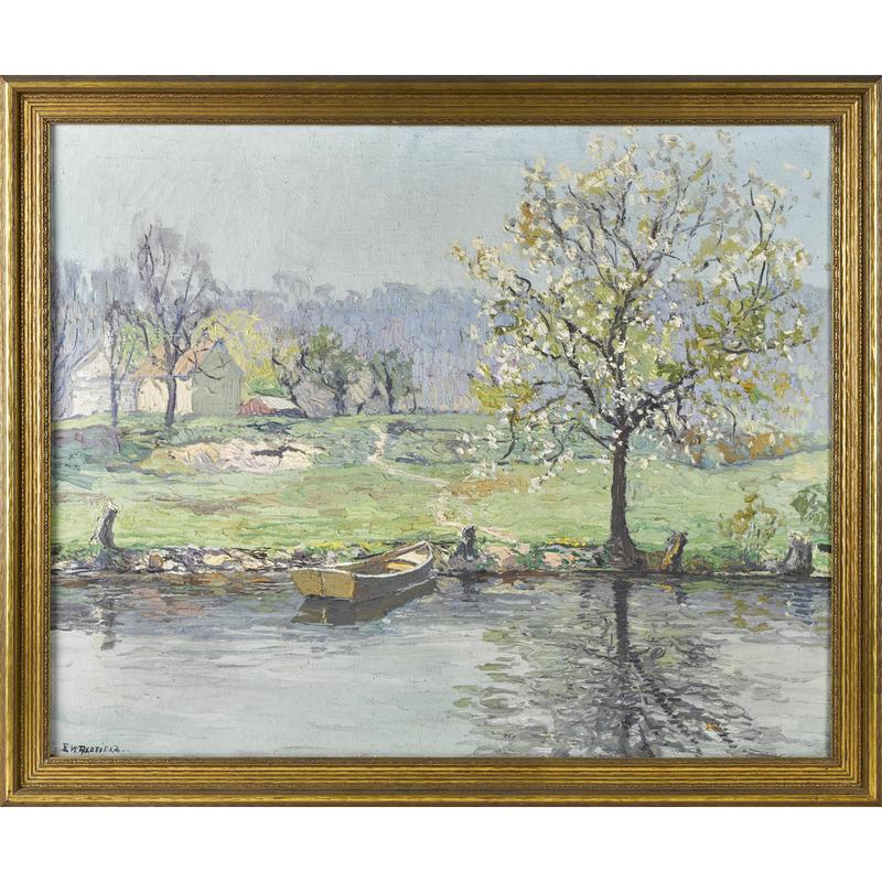 Edward Willis Redfield (American 1869-1965), oil o