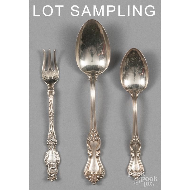 Sterling silver flatware, 38.1 ozt.