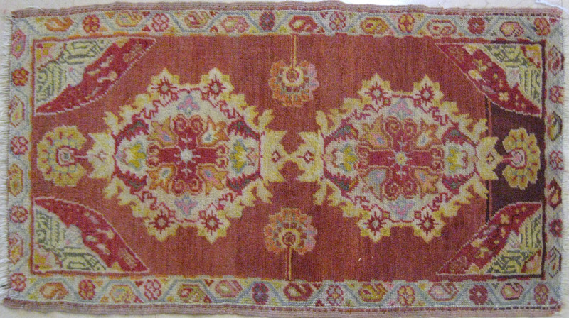 Three oriental mats, early 20th c., two - 2'11