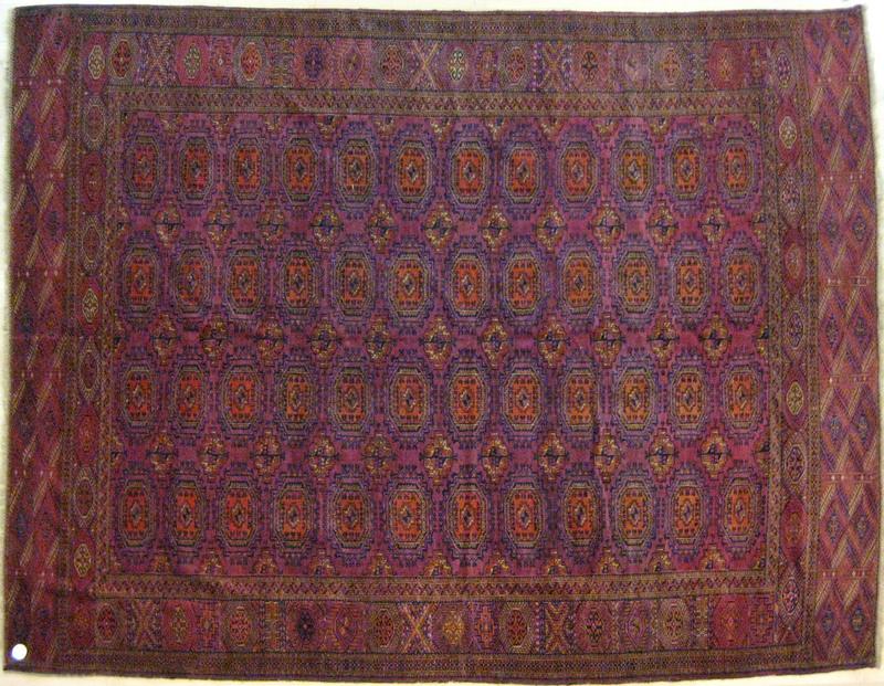 Salor Turkoman rug, ca. 1925, with octagon and swa