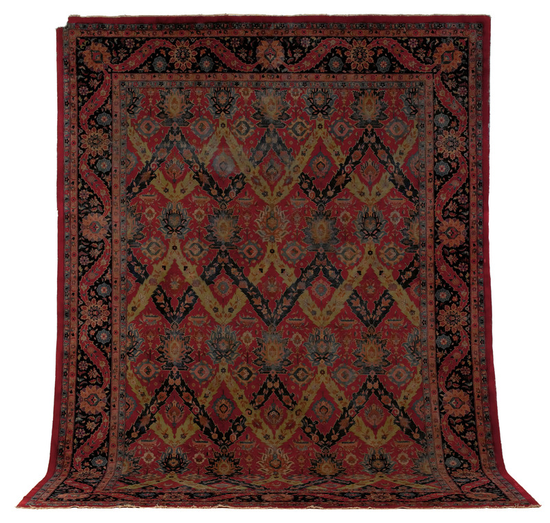 Indo Kirman carpet, ca. 1930, with a red field and