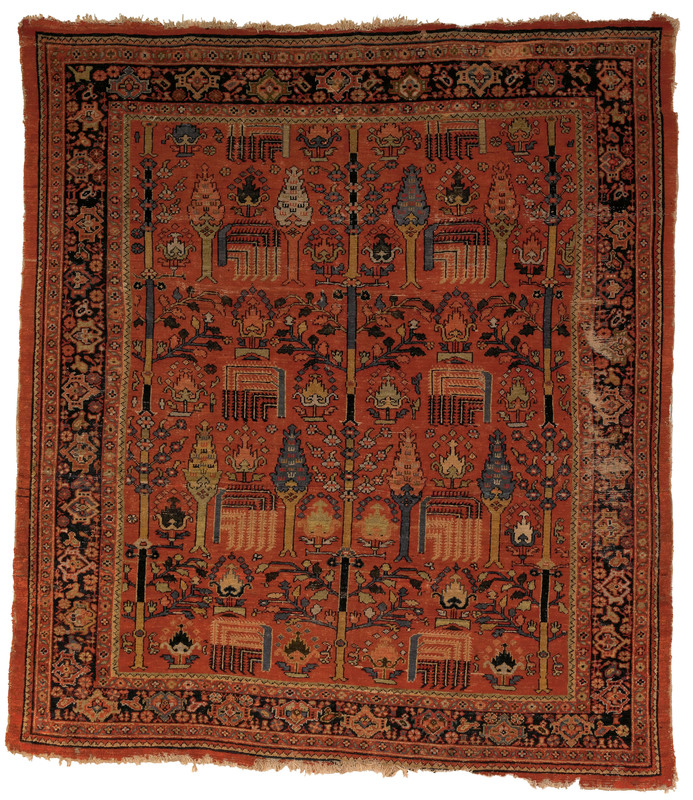 Mahal carpet, ca. 1900, with tree of life design o