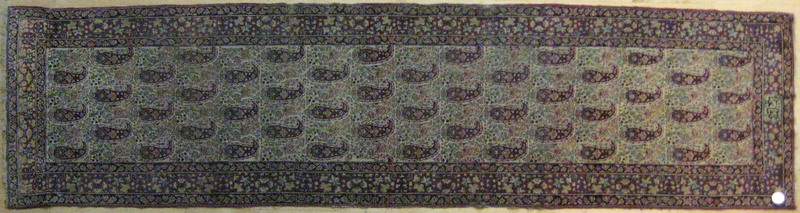 Kirman runner with inscription, ca. 1910, with rep