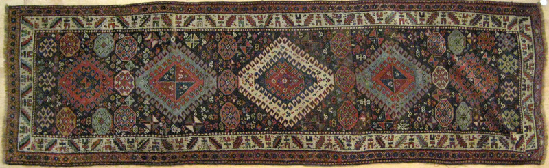 Caucasian runner, ca. 1910, with five medallions o