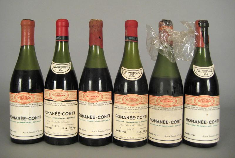 Six 750ml bottles Romanee Conti Domaine de la Roma