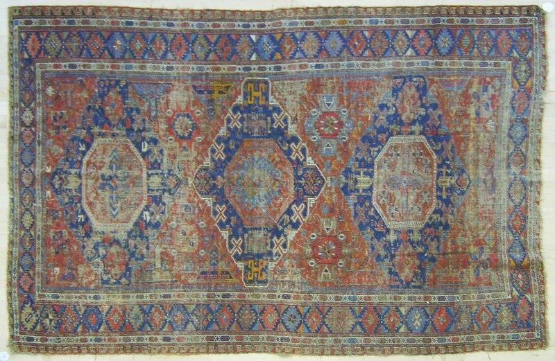 Sumac throw rug, early 20th c., 8'2