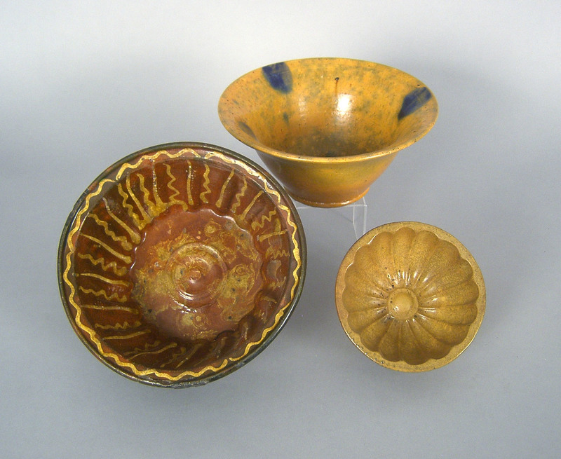 Two redware molds, 19th c., 3 3/4