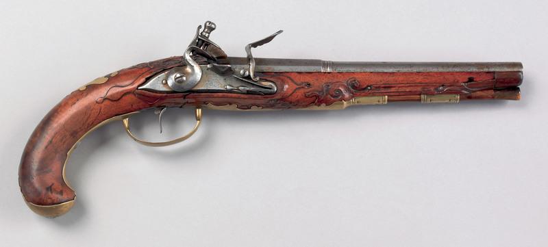 German made flintlock pistol of American interest,