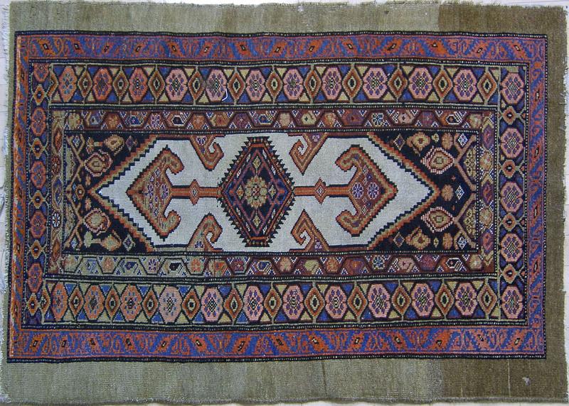 Camel hair mat, ca. 1915, 4'1