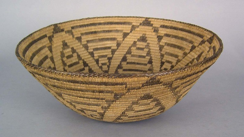 Pima coiled basket, ca. 1910, 7