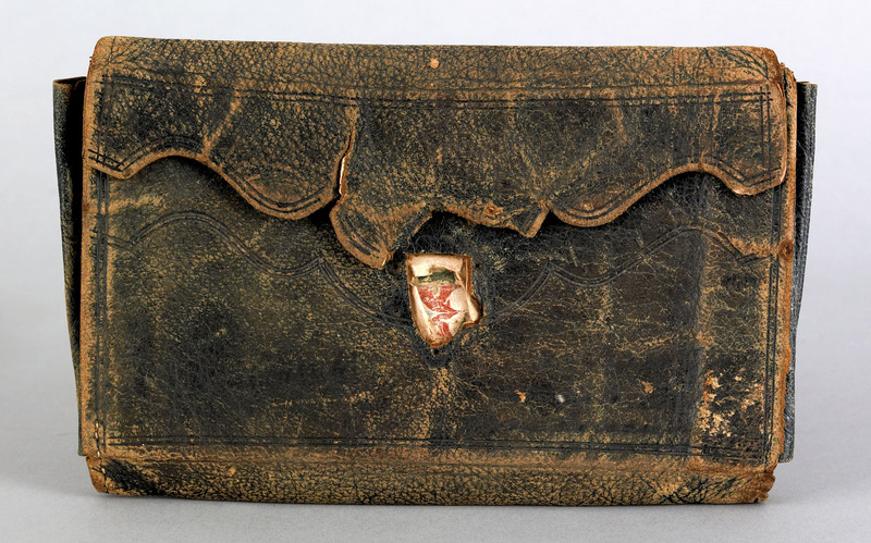 Philadelphia leather wallet, inscribed