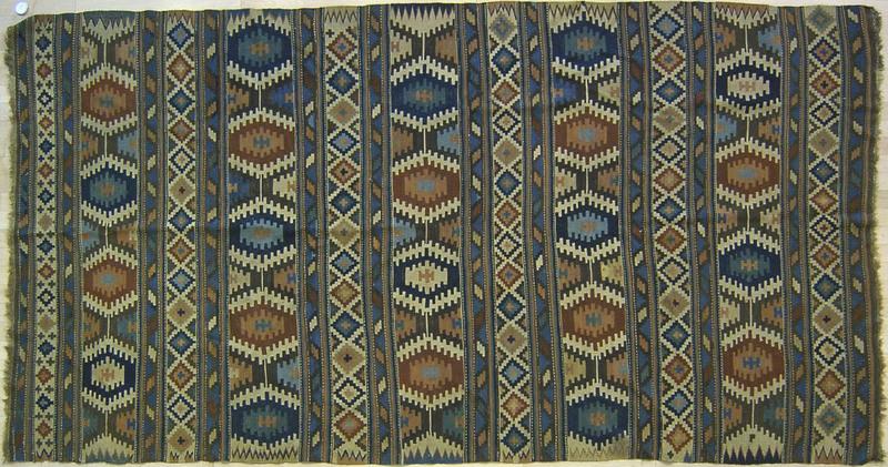 Kilim long rug, ca. 1910, 10' x 5'3