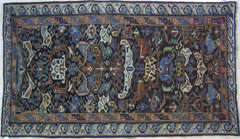 Kuba Sumac, late 19th c., with running dog border,