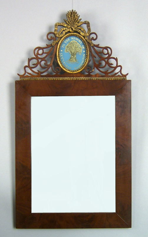 American late Federal mahogany mirror, ca. 1820, t