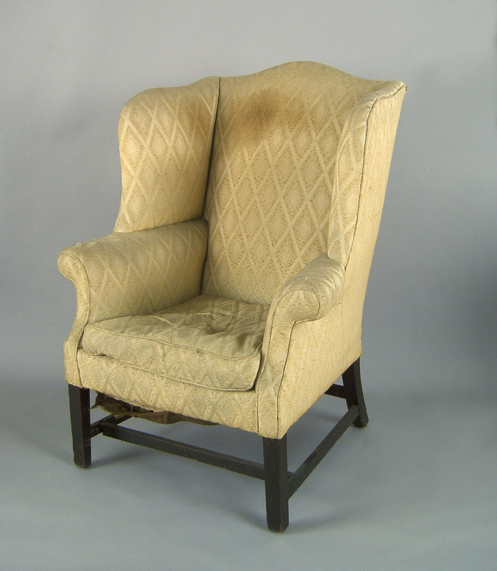 Philadelphia Chippendale mahogany wing chair, ca.7
