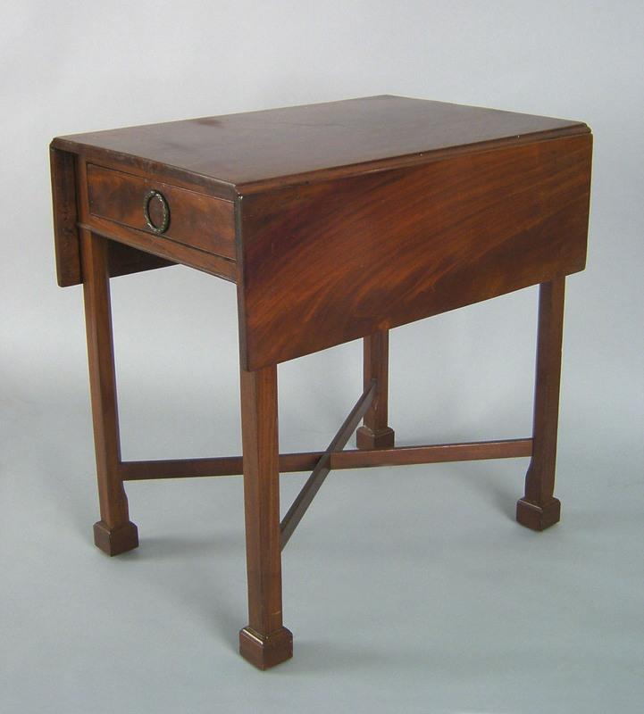 Philadelphia Chippendale mahogany pembroke table,a