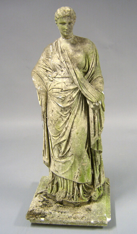 Marble statue of a maiden, 19th c., 43