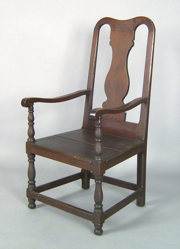 Pennsylvania Queen Anne walnut armchair, ca. 1750,