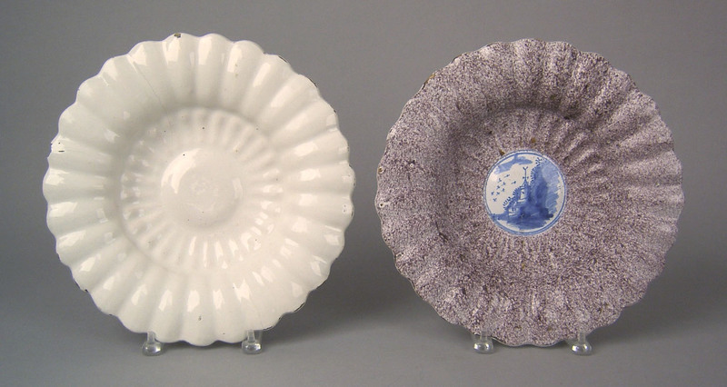 Delft basin, ca. 1680, with powdered manganese lob