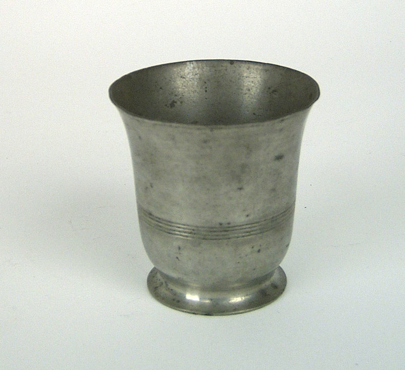 American pewter beaker, 1830-1860, possibly Meride