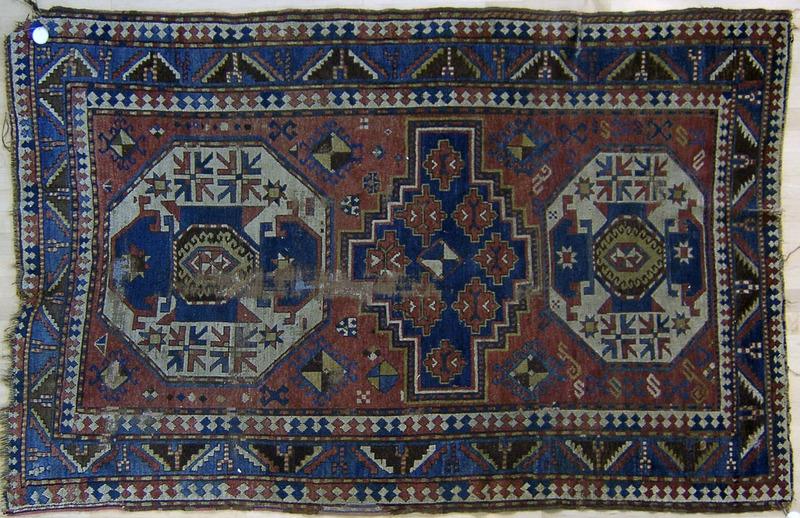 Lori Pembok throw rug, ca. 1900, 7'3