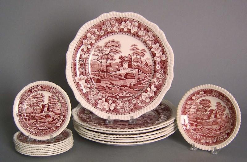 Sixteen Copeland Spode plates, 5 1/4
