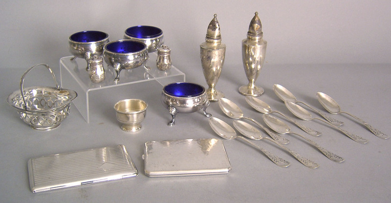 Sterling silver table articles, approx. 27.6 oz. t