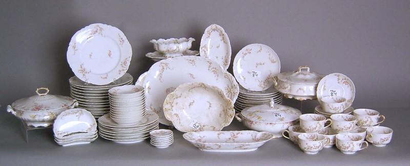Haviland Limoges porcelain dinner service.
