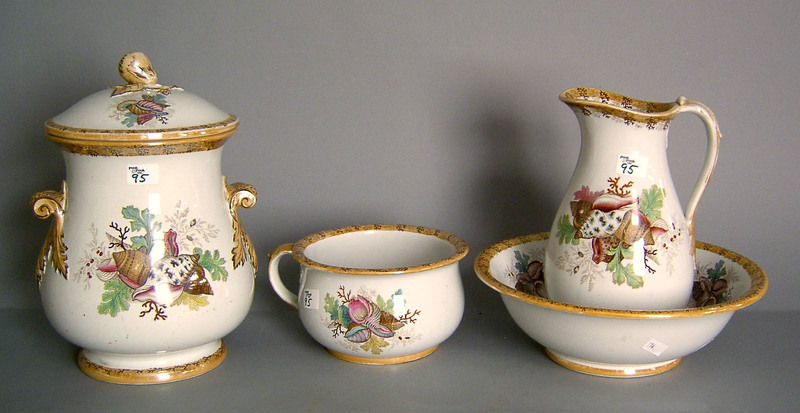 Furnival 4-pc. porcelain wash set.
