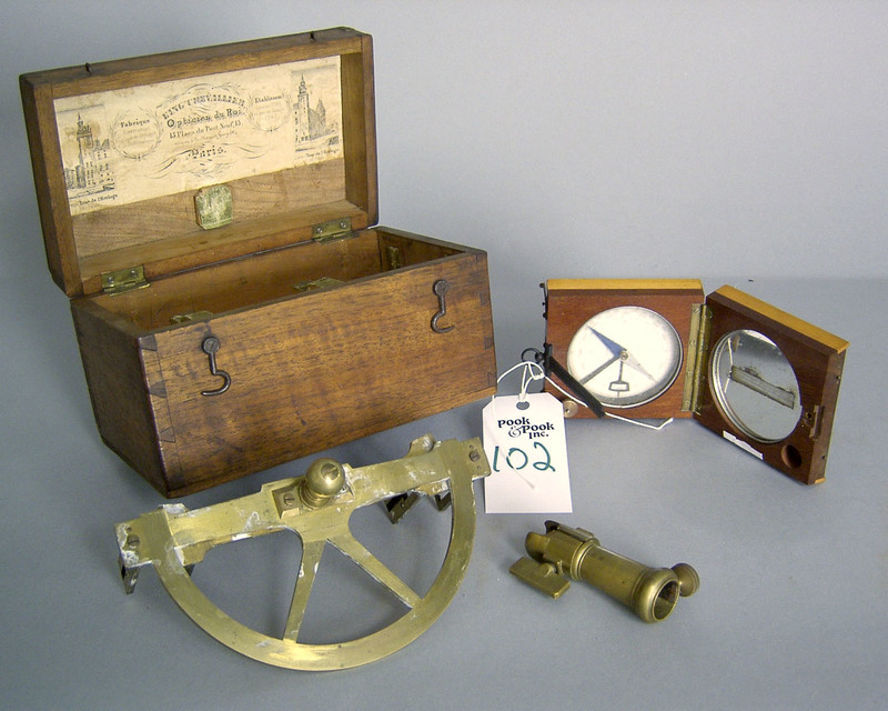 French graphometer by Chevallier, 19th c., with ca