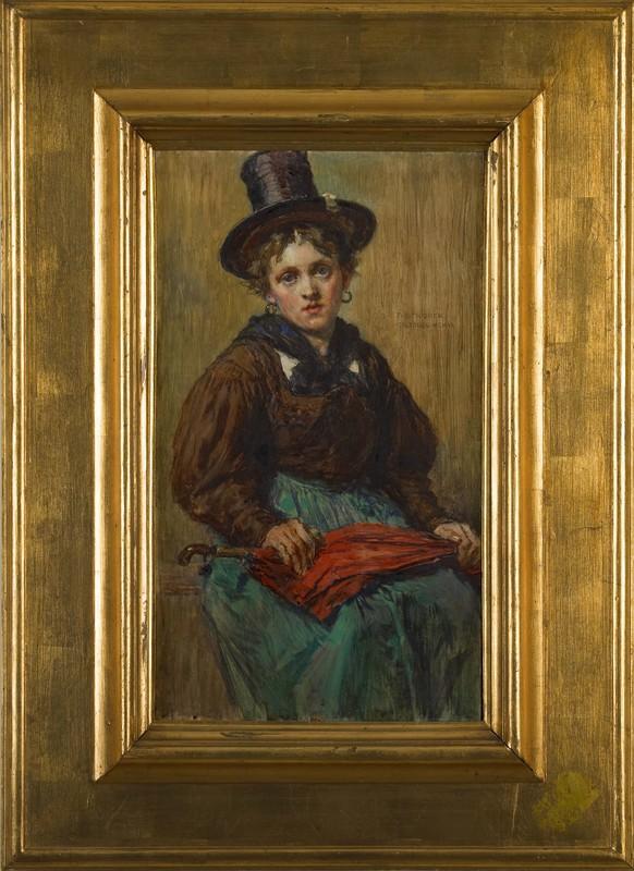 Theodor Josef Ethofer(Austrian, 1849-1915) - Oil o