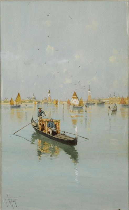 Giuseppe Vizzotto Alberti(Italian, 1862-1931) - Wa