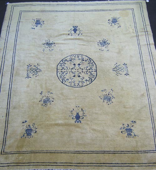 Roomsize Chinese carpet, ca. 1910, with central bl