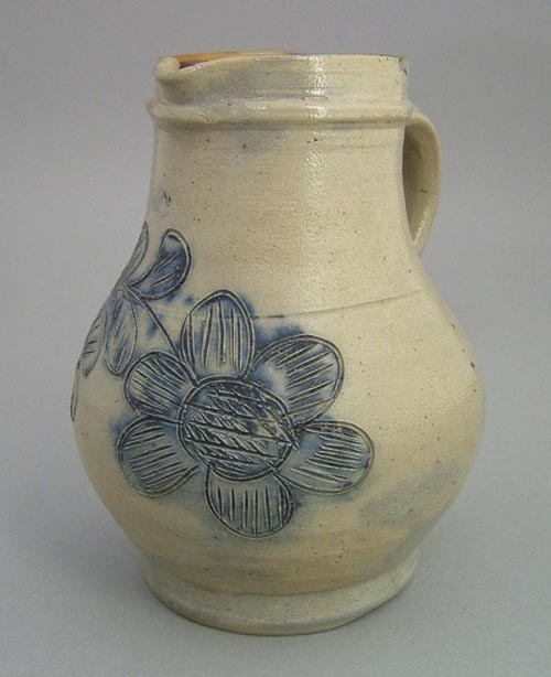 Stoneware ovoid pitcher attributed to Remmey, Phil