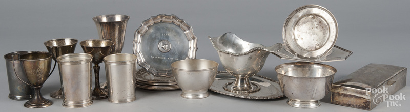 Group of sterling silver wares
