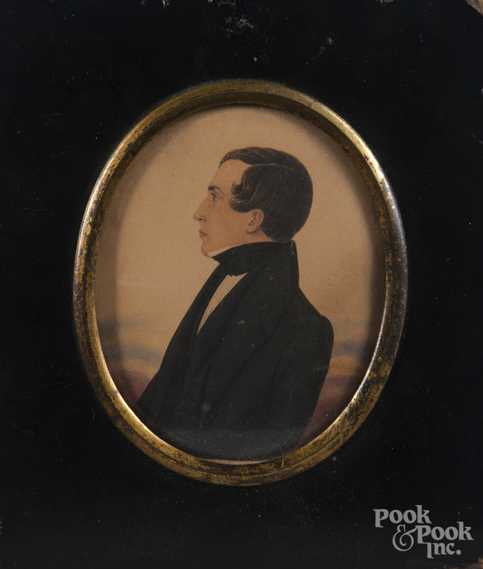 Miniature watercolor portrait of a gentleman