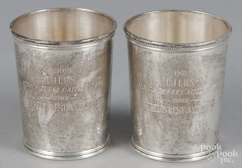 Pair of Mark Scearce, sterling silver julep cups