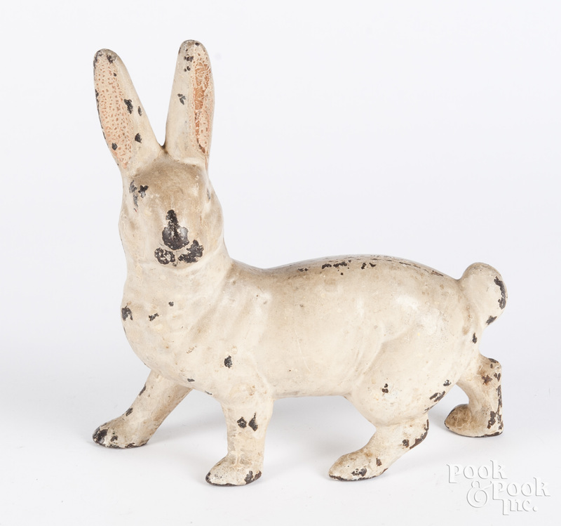 Cast iron rabbit doorstop, 9