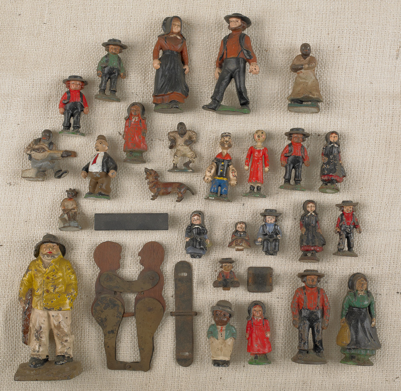Large collection of painted cast iron figures, 20t