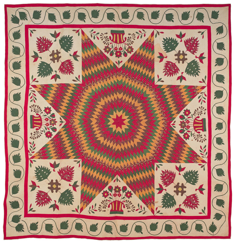 New Jersey or Maryland Bethlehem star album quilt,