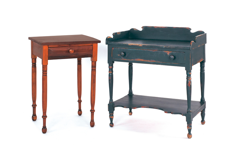 Two stands, to include a pine one-drawer stand, 19