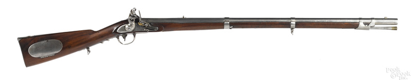 R. Johnson model 1814 US flintlock rifle