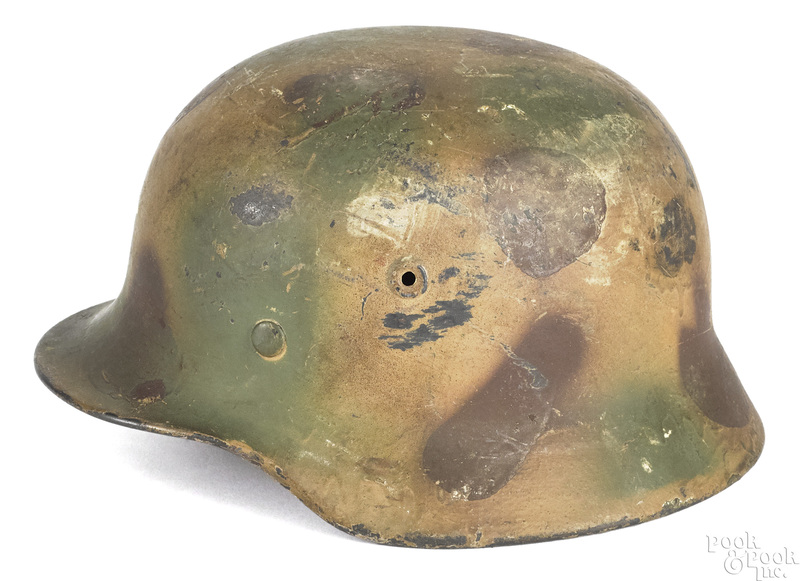 German WWII M42 camouflage steel helmet